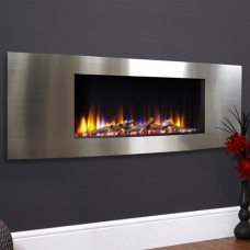 Celsi Ultiflame VR Vichy Inset Wall Mounted Electric Fire Satin Silver