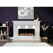 Celsi Ultiflame VR Adour Elite Illumia Electric Fireplace Suite White