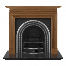 """Carron Wessex 54"""" Wood Fireplace With Collingham Cast Iron Arch"""