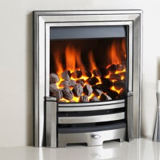 Crystal Fires Monarch Chrome Gas Fire