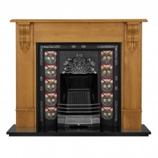 Carron Daisy Cast Iron Tiled Fireplace Insert