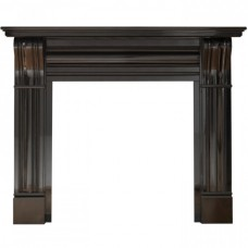 "Gallery Dublin Corbel 60"" Black Granite Mantle"