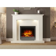 """FLARE Collection Emilia 48"""" Micro Marble Fireplace Suite"""
