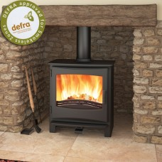 Broseley Sicilian Black/Brass Electric Fire