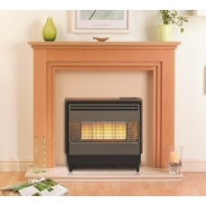 Valor Firegem Highline Deluxe Teak Gas Fire