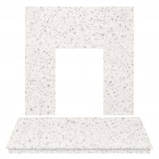 Fireplaces 4 Life China White Marble Back Panel & Hearth