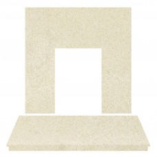 Fireplaces 4 Life Honey Crème Marble Back Panel & Hearth