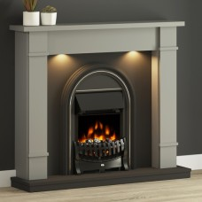 """FLARE Collection 48"""" Broadwell Fireplace complete with Electric Fire"""