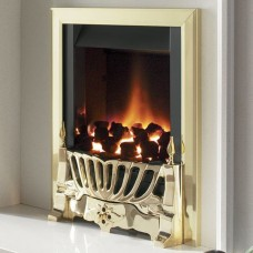 Flavel Warwick Ultra Slim Gas Fire Brass