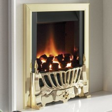 Flavel Warwick Powerflue Gas Fire Brass