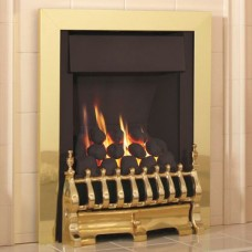 Flavel Windsor Traditional Slimline Inset Brass Gas Fire Plus
