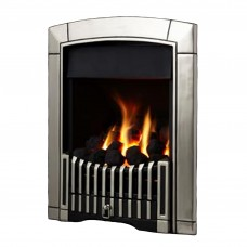 Flavel Caress Plus Contemporary Silver Gas Fire