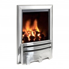 Flavel Kenilworth Contemporary Silver Gas Fire