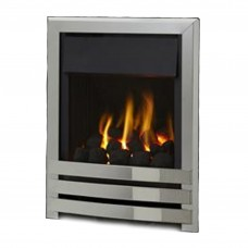 Flavel Linear Plus Polished Silver Gas Fire