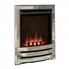 Flavel Windsor Contemporary High Efficiency Silver Gas Fire