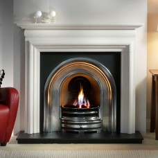 Gallery Asquith Limestone Fireplace Includes Crown Cast Iron Arch 1