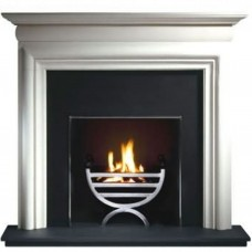 Gallery Asquith Limestone Fireplace Includes Optional Cottage Fire Basket