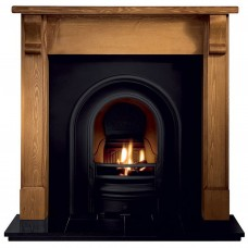 Gallery Bedford Wood Fireplace Includes Coronet Cast Iron Arch
