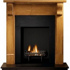 Gallery Bedford Wood Fireplace Includes Cromwell Fire Basket