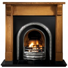 Gallery Bedford Wood Fireplace Includes Lytton Cast Iron Arch