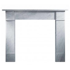 "Gallery Brompton 56"" Carrara Marble Fire Surround"