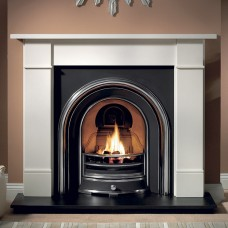 Gallery Brompton Stone Fireplace Includes Jubilee Cast Iron Arch 1