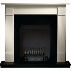 Gallery Brompton Stone Fireplace Includes Valencia Fire Basket