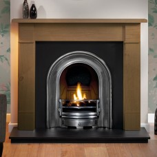 Gallery Brompton Stone Fireplace Includes Landsdowne Cast Iron Arch