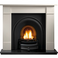 Gallery Brompton Stone Fireplace Includes Tradition Cast Iron Arch