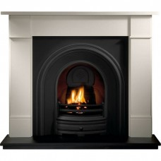 Gallery Brompton Limestone Fireplace Includes Henley Cast Iron Arch