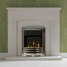 "Gallery Carlton 48"" Portuguese Limestone Fireplace Suite"