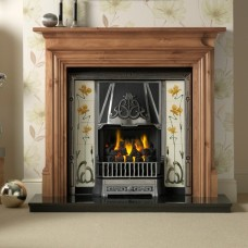 Gallery Bedford Wood Fireplace Includes Jubilee Cast Iron Arch