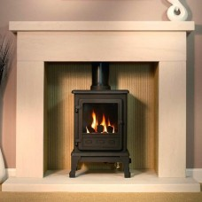 Gallery Durrington Stone Fireplace & Optional Firefox 5 Gas Stove
