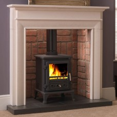 Gallery Fairfield Stone Fireplace with Optional Firefox 5 Stove