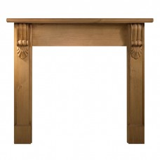 Gallery Grand Corbel 54'' Pine Wood Fire Surround