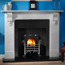 Gallery Kingston Stone Fireplace Includes Optional Voysey Fire Basket