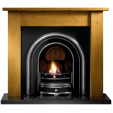Gallery Lincoln Wood Fireplace Includes Jubilee Cast Iron Arch