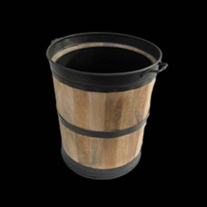 Gallery Black Trim Log Barrel