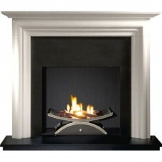 Gallery Modena Limestone Fireplace Includes Optional Nexus Fire Basket