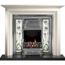 Gallery Modena Limestone Fireplace Includes Sovereign Cast Iron Tiled Insert