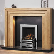 GB Mantels Camberley Clear Oak Fireplace Suite