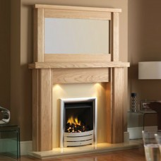 GB Mantels Coatbridge Oak Fireplace Suite