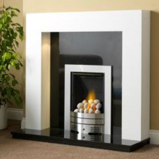 GB Mantels Consett Brilliant White Fireplace Suite