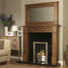 GB Mantels Croydon Medium Pine Fireplace Suite