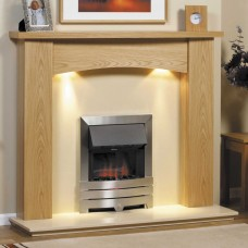GB Mantels Didsbury Clear Oak Fireplace Suite