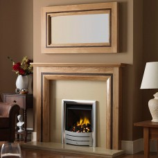GB Mantels Haversham Clear Oak and Wenge Fireplace Suite