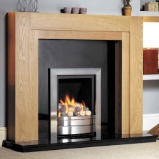 GB Mantels Henley Oak Fireplace Suite