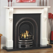 GB Mantels Kingsley Tudor Oak Fireplace Suite