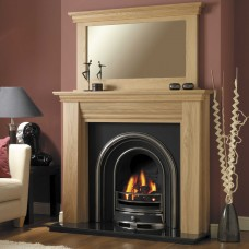GB Mantels Mayfair Clear Oak Fireplace Suite