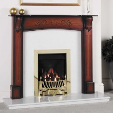 GB Mantels Norfolk Vintage Honey Oak Fireplace Suite